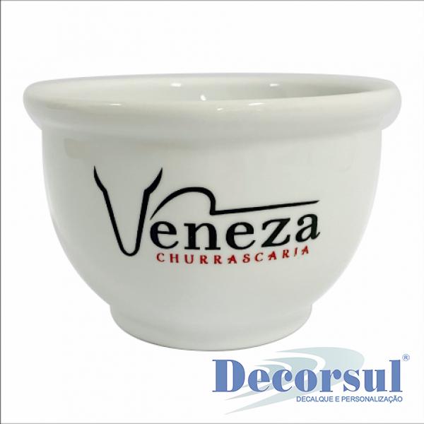 Tigela de porcelana personalizada 400ml Coalhada