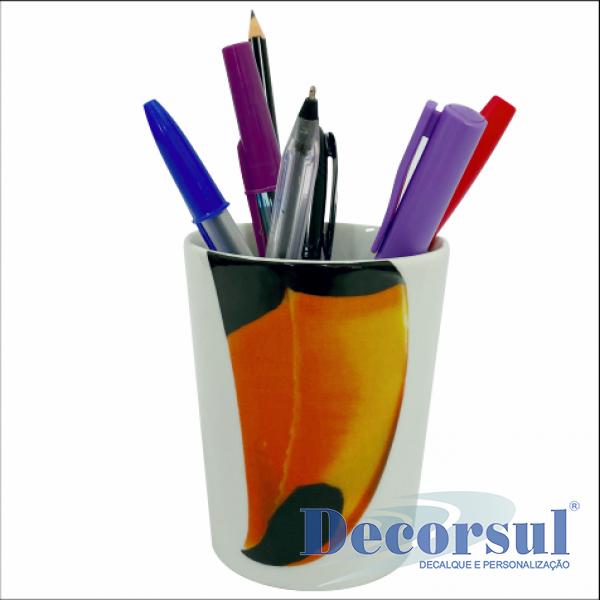 Porta lápis porcelana 270ml