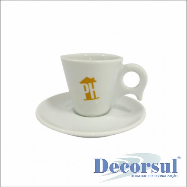 Xícara porcelana café personalizada Dinamarca 80ml