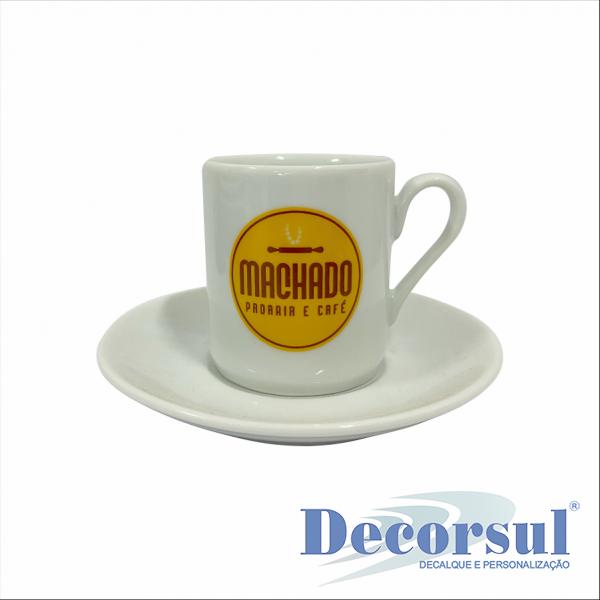Xícara porcelana café personalizada BRASILIA 70ml