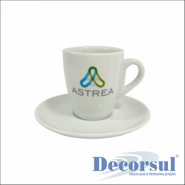Xícara porcelana café personalizada Nova Sachê 75ml