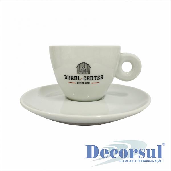 Xícara porcelana cappuccino personalizada Italia 145ml