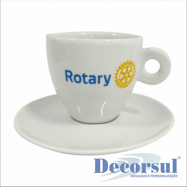 Xícara porcelana chá personalizada Italia 210ml